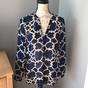Beautiful INC Sheer Dress shirt! Size small!